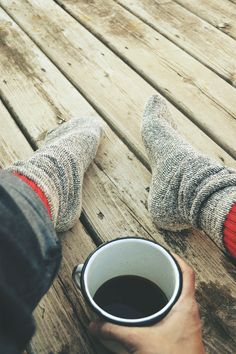 socks with coffee