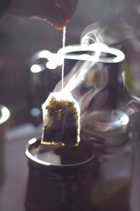 tea bag with swirl vapor
